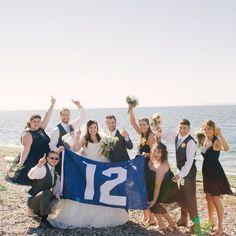 Go Hawks!! Check out this Seahawk Wedding Inspiration on the blog! Link in Profile. #seahawks #playoffs #bjonesphotography #football #footballbride #seattlebride #bridalparty #bridesmaids #jcrewbridemaiddress #silkchiffon #beachwedding #12thman #12thmanflag #seahawkpride Seattle Wedding Photographer. Follow me on instagram! @bjonesphotos