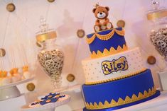 Riley's Royal Prince Themed Party – Cake Prince Birthday Party, First Birthday Cakes, Birthday Ideas, Prince Cake, Royal Prince, Party Themes, Party Ideas, 1st Birthdays, Cake Smash