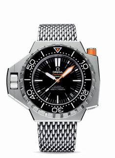 The Omega Seamaster PLOPROF 1200 M has the ever useful Helium escape valve. Was at Omega in NY and loved the shark band, but this is really a professional diver watch. Around $10,000