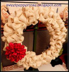 SweetPepperRose: Burlap Bubble Wreath