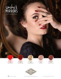 #smoke&mirrors #nail #collection #biosculpturegel #autumn #winter #colours #gel #nails #glitter #red #gold #bronze #brown