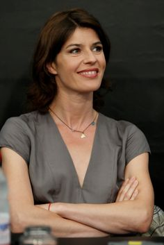Actress Irene Jacob attends the ' Les Yeux De Simone' press conference during the 62nd Locarno International Film Festival on August 8, 2009 in Locarno, Switzerland.