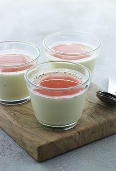 Dessert med rabarber