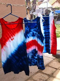 24 awesome diy july crafts for kids to make Fourth Of July Shirts, 4th Of July Outfits, July 4th, Diy 4th Of July Tie Dye Shirts, Diy Tie Dye Fourth Of July, Diy Tie Dye Shirts, Diy Shirt, Diy Tank, Textiles