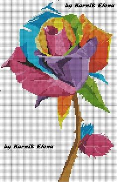Discover recipes, home ideas, style inspiration and other ideas to try. Counted Cross Stitch Patterns, Cross Stitch Charts, Cross Stitch Designs, Cross Stitch Embroidery, Cross Stitch Rose, Modern Cross Stitch, Cross Stitch Flowers, Christmas Embroidery Patterns, Cross Stitching