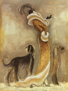 Dogs on Art - Saluki... this is one of the dogs that i want when i get a house