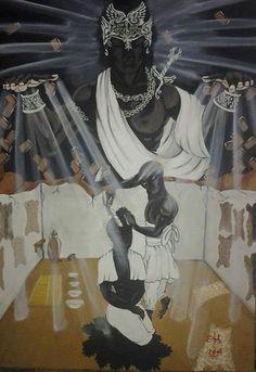 Orisha, African Mythology, African Symbols, Spirited Art, Art Story, Fantasy Warrior, Sacred Art, African Art, Black Art