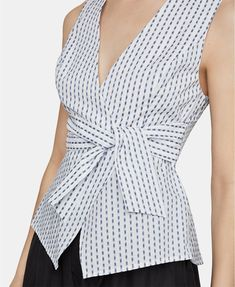 Bcbgmaxazria Printed Peplum Top - Blue S Peplum Tops, Stylish Tops For Women, Sewing Blouses, Blouse And Skirt, Work Looks, Dress Sewing Patterns, Blouse Designs, Fashion Dresses, Clothes For Women