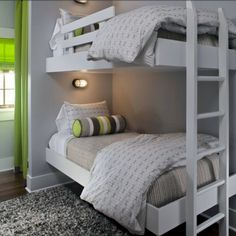 bedding.  tan with gray walls?  add decorative pillows (not yellow)