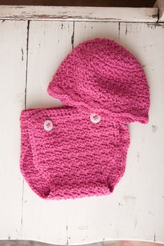 baby girl diaper cover/hat set