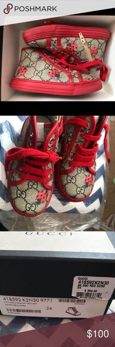 Kids Gucci sneakers Gucci kids sneakers in good condition Gucci Shoes Sneakers