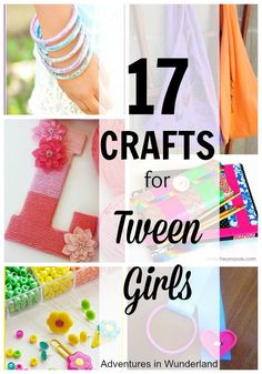 17 Crafts for Tween Girls fun and easy diy crafts for tweens - Fun Diy Crafts Diy Crafts For Teen Girls, Crafts For Teens To Make, Fun Diy Crafts, Tween Girls, Diy For Teens, Creative Crafts, Arts And Crafts, Girls Fun, Kids Crafts