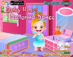 Hazel is eager to learn dance but bit conscious to perform in front of other kids. Can you encourage her in dancing confidently? http://www.topbabygames.com/baby-hazel-ballerina-dance.html
