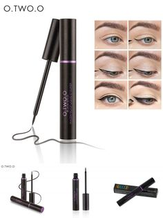 [Visit to Buy] O.TWO.O 1PC NEW Beauty Cat Style Black Long-lasting Waterproof Liquid Eyeliner Eye Liner Pen Pencil Makeup Cosmetic Tool #Advertisement
