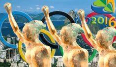 BIEN FAIT 4 TOUS Olympiades @ Rio 2016  Sculpture 'paralympique Shot-mis »par Ginger Gilmour  Créé pour Londres 2012 Art du Sport, Lloyds TSB www.gingerart.net