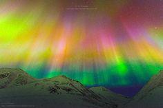Aurora Borealis above Brooks Range Mountain, Atigun Pass, Dalton Highway, Alaska