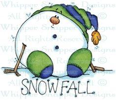 Snowfall - Snowmen Images - Snowmen - Rubber Stamps - Shop
