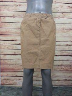 Ann Taylor LOFT corduroy skirt womens size 4 stretch casual work above knee #AnnTaylorLOFT #StraightPencil