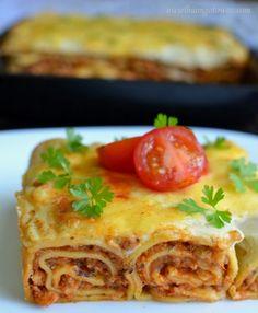 Lasagna, Tacos, Food And Drink, Mexican, Yummy Food, Pierogi, Baking, Ethnic Recipes, Gastronomia