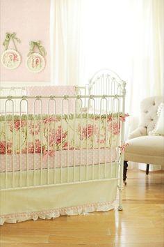 sweet shabby chic nursery bedding