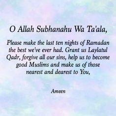 Allahuma Ameen ya Rab!