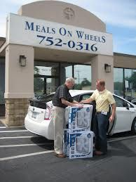 """Summer 2012 one of many """"beat the heat"""" fan deliveries."""