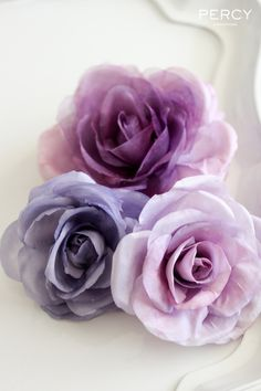 Experiments with Colour: Hand-dyed purple handmade silk flowers by Tania Maras Bridal