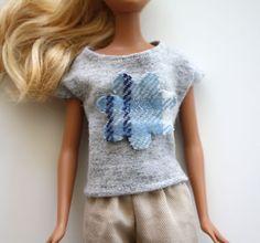 barbie knit top - step by step Photo tutorial - Bildanleitung