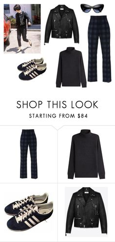 """""""90s"""" by chungfan on Polyvore featuring Rosetta Getty, Vince, adidas, Yves Saint Laurent, Ryder and ZeroUV"""