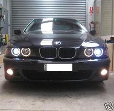 Bmw e39 5-series #96-00 black #xenon #angel-eyes head lights 523i 528i 535i  540i,  View more on the LINK: 	http://www.zeppy.io/product/gb/2/200544902995/