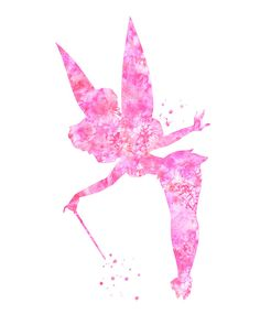 Hey, I found this really awesome Etsy listing at https://www.etsy.com/listing/217327960/pink-tinkerbell-art-print-purple