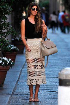 Bianca Brandolini, con el mejor 'look' de 'street style' de junio de 2013