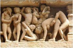 Khajuraho Temple, India. Temple of erotic sculptures
