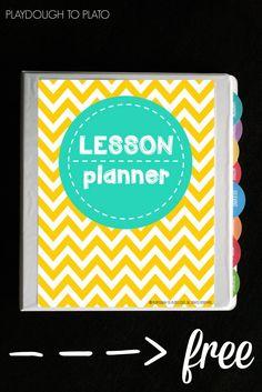 Free Lesson Plan Book - Playdough To Plato