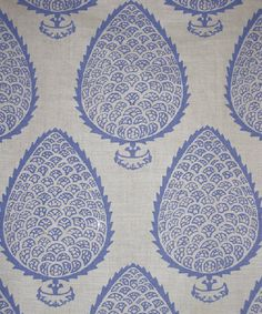Leaf in Periwinkle from Katie Ridder #fabric #blue