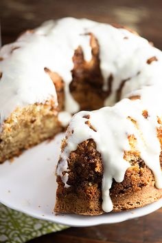 Cinnamon Roll Pound Cake - this cake is so moist and rich! | bunsinmyoven.com