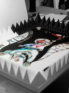Paper Sculpture Frames on the Behance Network