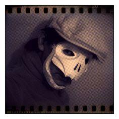 Halloween Mask. 骸骨のイメージのペーパーマスク。