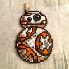 BB-8 Star Wars VII perler beads by beadartyyc