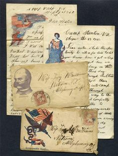 1862 civil war letters - Warren McWilliams 123rd PA -- Tarentum PA Natrona   died of typhoid soon after -- buried in Arlington