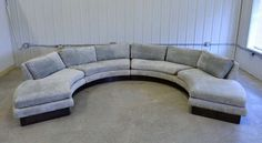 Circular Curved Sectional Sofa by Erwin-Lambeth for John Stuart | From a unique collection of antique and modern sectional sofas at http://www.1stdibs.com/furniture/seating/sectional-sofas/