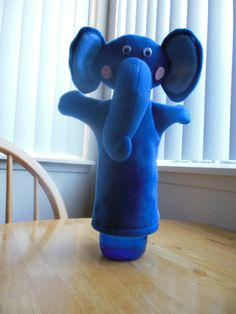 Hey, I found this really awesome Etsy listing at https://www.etsy.com/listing/196400455/blue-elephant-hand-puppet