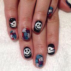 Nightmare Before Christmas   halloween  #nail #nails #nailart