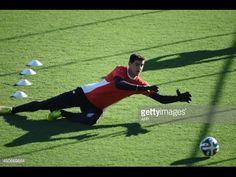 Goalkeeper training - Thibaut Courtois training ( Chelsea and the Belgi...
