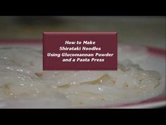 Make Shirataki Noodles using Glucomannan   Homemad Shirataki noodles   D...