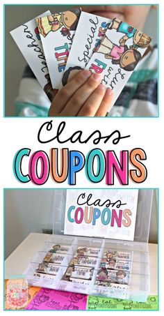 Coupons for Kids: The EFFECTIVE & Free Classroom Management Strategy Class Coupons as a Classroom Management Strategy. Tips for implementing a class coupon reward system for managing positive behavior in the class. Classroom Reward Coupons, Classroom Reward System, Classroom Incentives, Classroom Economy, Classroom Management Strategies, Classroom Organisation, School Classroom, Behaviour Management, Classroom Decor
