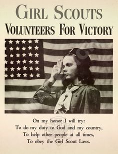 World War II Poster Girl Scouts  Volunteers