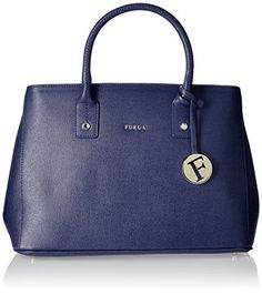 Furla Women's Linda Medium Tote Navy Handbag