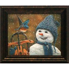 'Snow Brother' Rectangle Framed Graphic Art Print