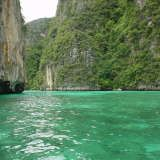 This is what the inlet to Ko Phi Phi looked like before you come into the island. there were bamboo poles up the rocks that men would climb to get bird eggs. It was an amazing spectical.
